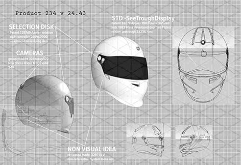 Apple casco moto