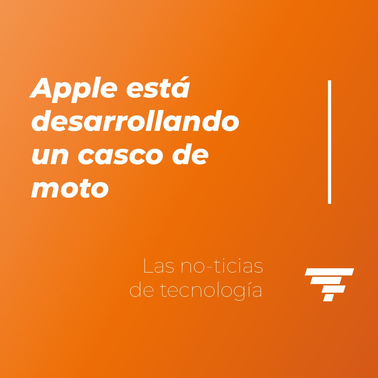 Apple está desarrollando un casco de moto